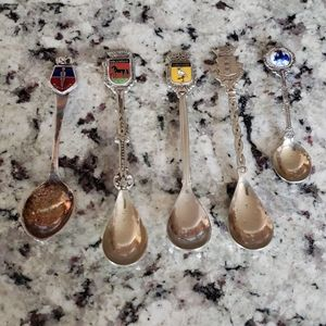"""Souvenir Spoons Vintage 3.5 & 4"""" EUC Plated"""